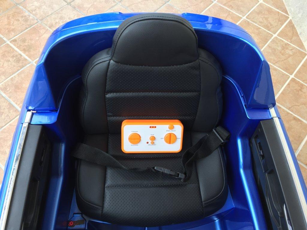 Coche electrico para niños Audi Q7 Facelift Azul Metalizado con asiento acolchado en polipiel