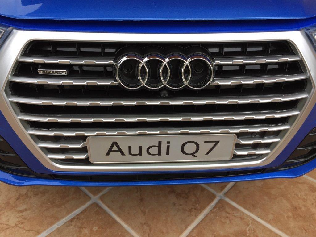 Coche electrico infantil Audi Q7 Facelift Azul Metalizado con licencia oficial