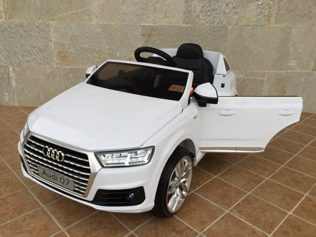 Coche electrico para niños Audi Q7 Facelift Blanco vista principal