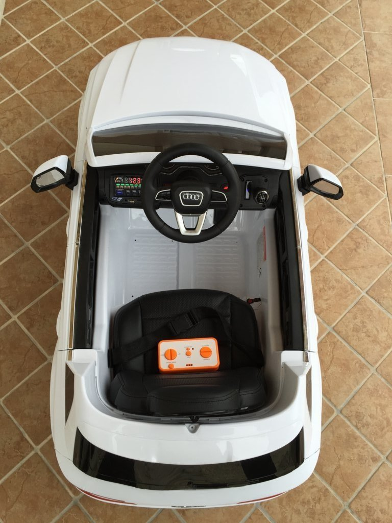 Coche electrico para niños Audi Q7 Facelift Blanco visto desde arriba