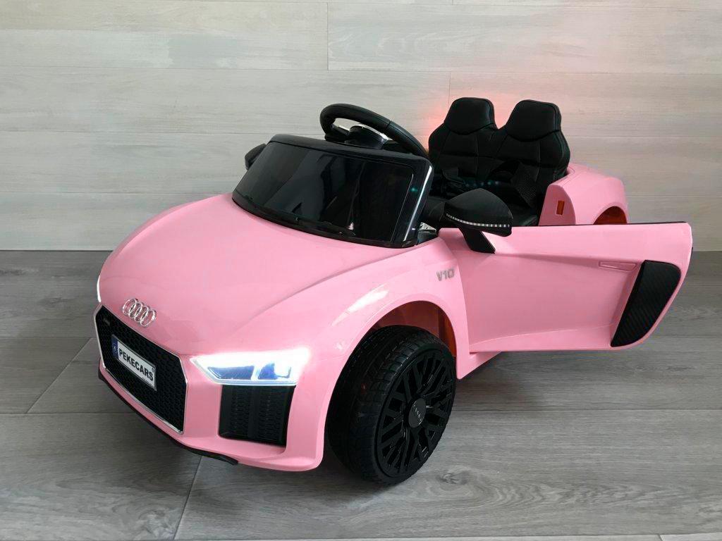 Coche electrico para niños Audi Little R8 Spyder Rosa vista principal