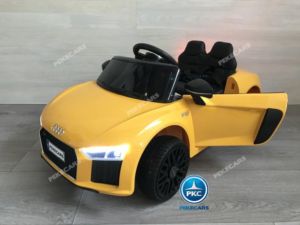 Coche electrico para niños Audi Little R8 Spyder Amarillo vista principal