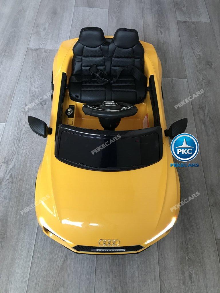 Coche electrico para niños Audi Little R8 Spyder Amarillo visto desde arriba