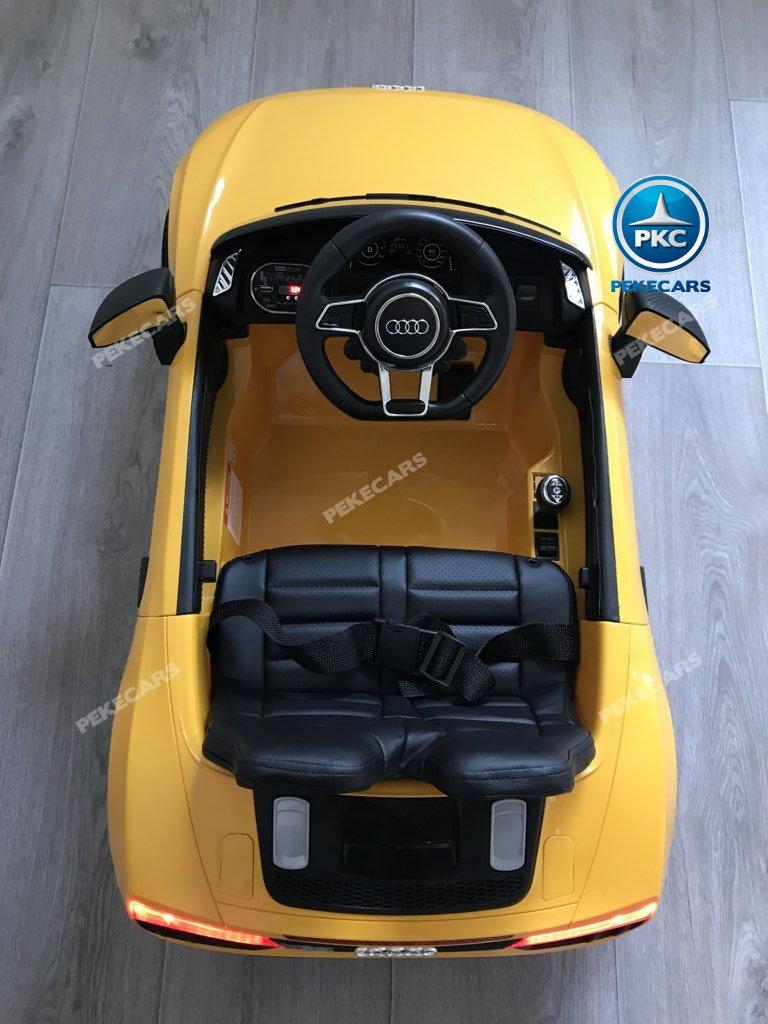 Coche electrico infantil Audi Little R8 Spyder Amarillo vista aerea