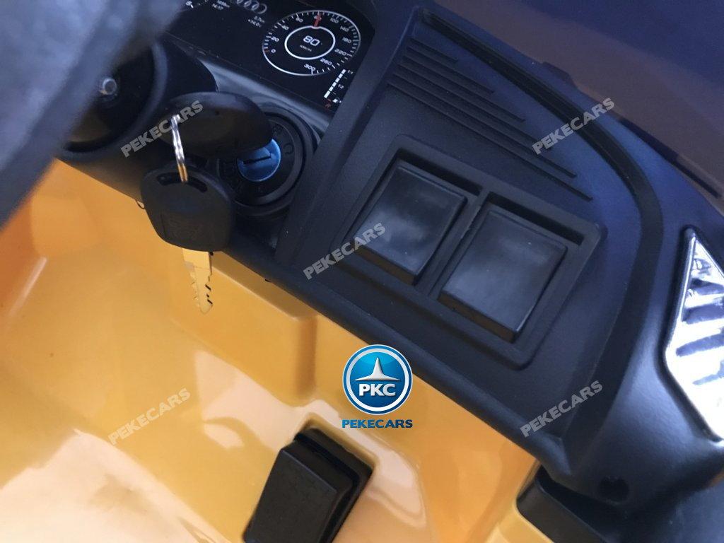 Coche electrico para niños Audi Little R8 Spyder Amarillo con llave de arranque