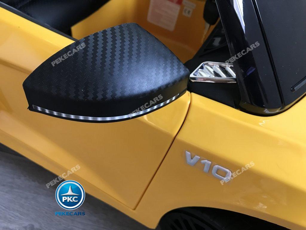 Coche electrico para niños Audi Little R8 Spyder Amarillo hasta 4 años