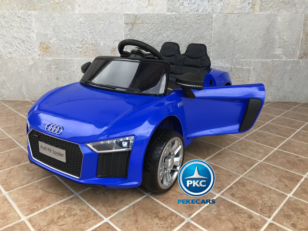 Coche electrico para niños Audi Little R8 Spyder Azul vista principal