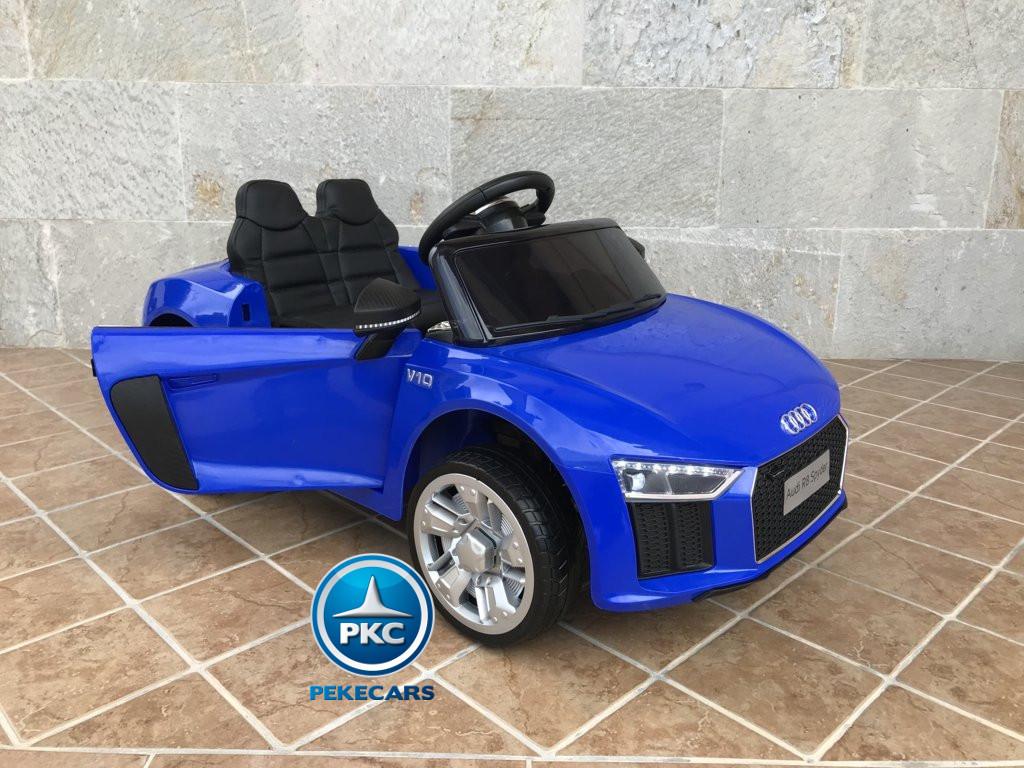 Coche electrico para niños Audi Little R8 Spyder Azul