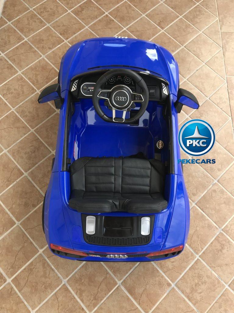 Coche electrico para niños Audi Little R8 Spyder Azul visto desde arriba