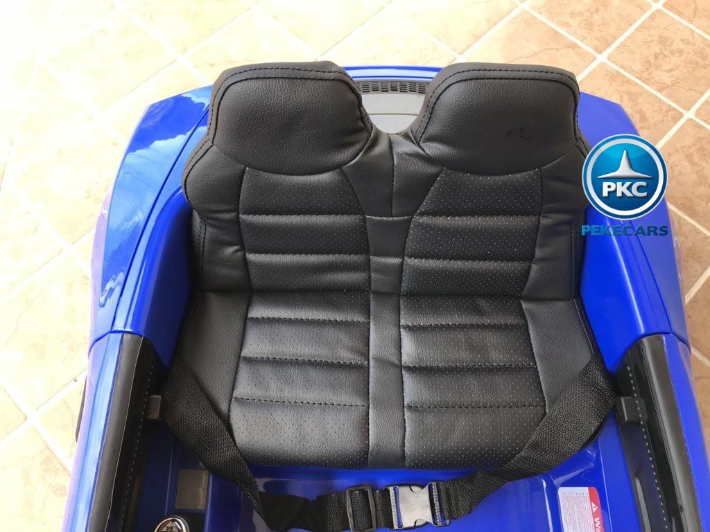Coche electrico infantil Audi Little R8 Spyder Azul asiento acolchado en piel