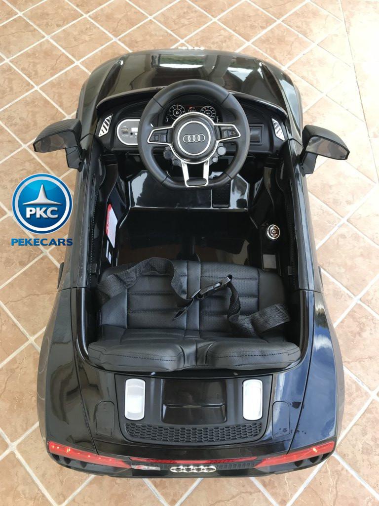 Coche electrico para niños Audi Little R8 Spyder Negro visto desde arriba