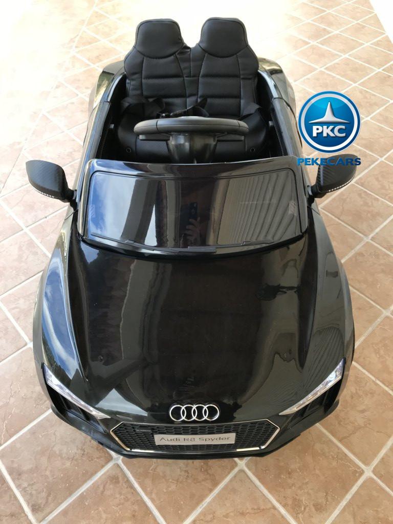 Coche electrico infantil Audi Little R8 Spyder Negro vista aerea