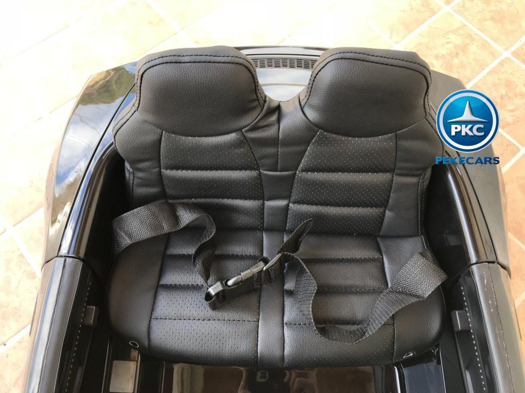 Coche electrico para niños Audi Little R8 Spyder Negro asiento acolchado en piel