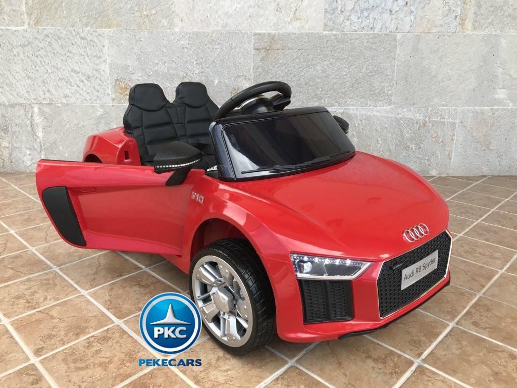 Coche electrico para niños Audi Little R8 Spyder Rojo con apertura de puertas