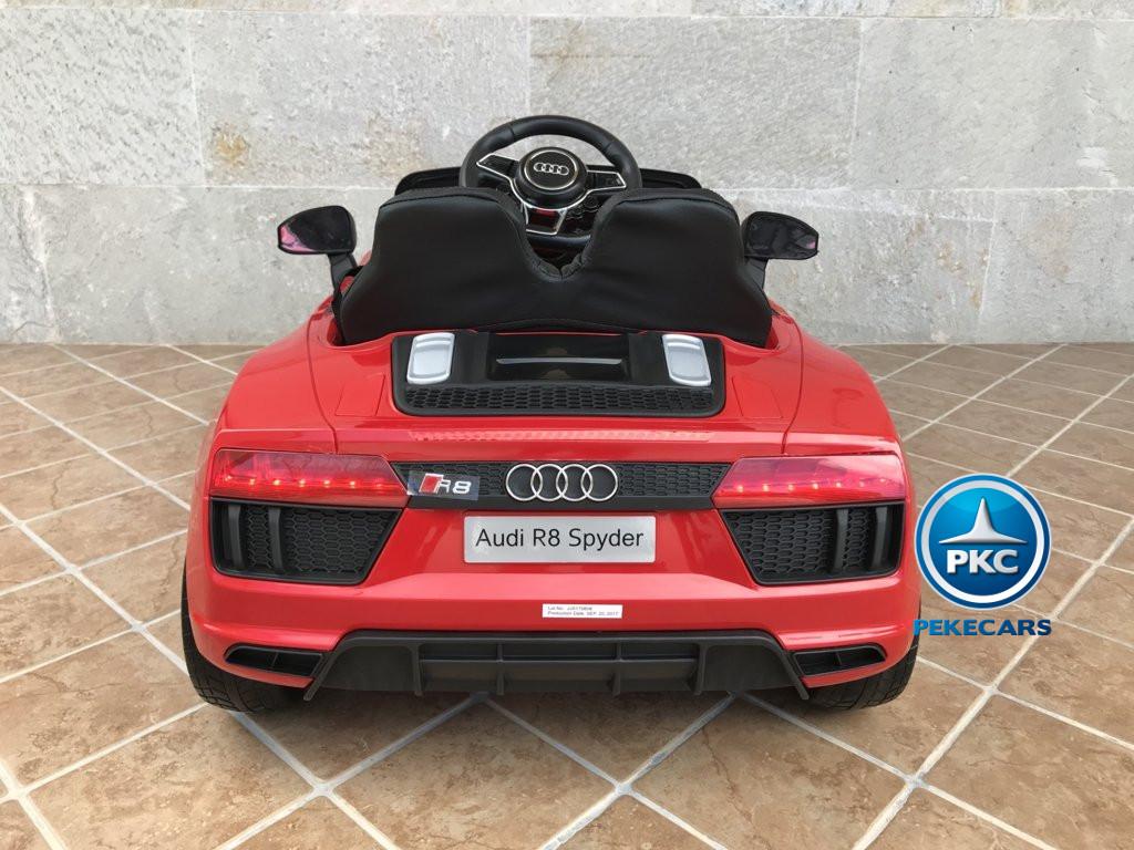 Coche electrico para niños Audi Little R8 Spyder Rojo vista trasera