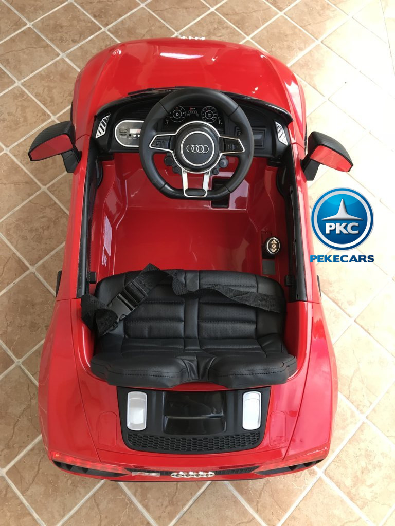 Coche electrico para niños Audi Little R8 Spyder Rojo visto desde arriba