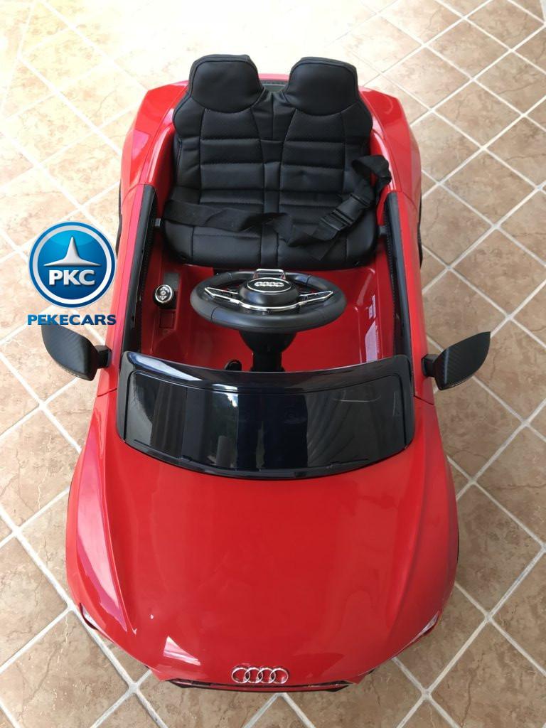 Coche electrico infantil Audi Little R8 Spyder Rojo vista aerea