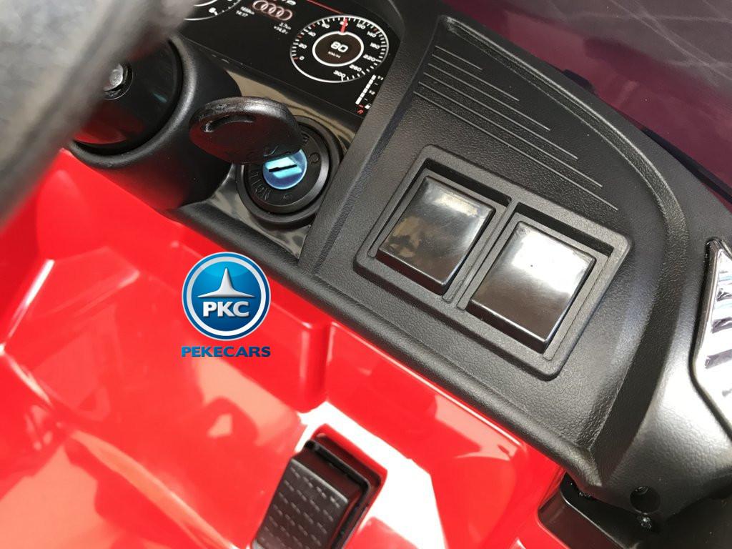Coche electrico para niños Audi Little R8 Spyder Rojo con llave de arranque