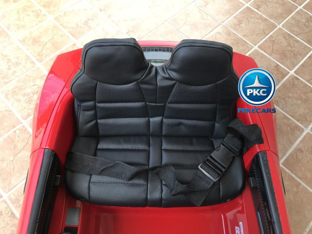 Coche electrico para niños Audi Little R8 Spyder Rojo asiento acolchado en piel