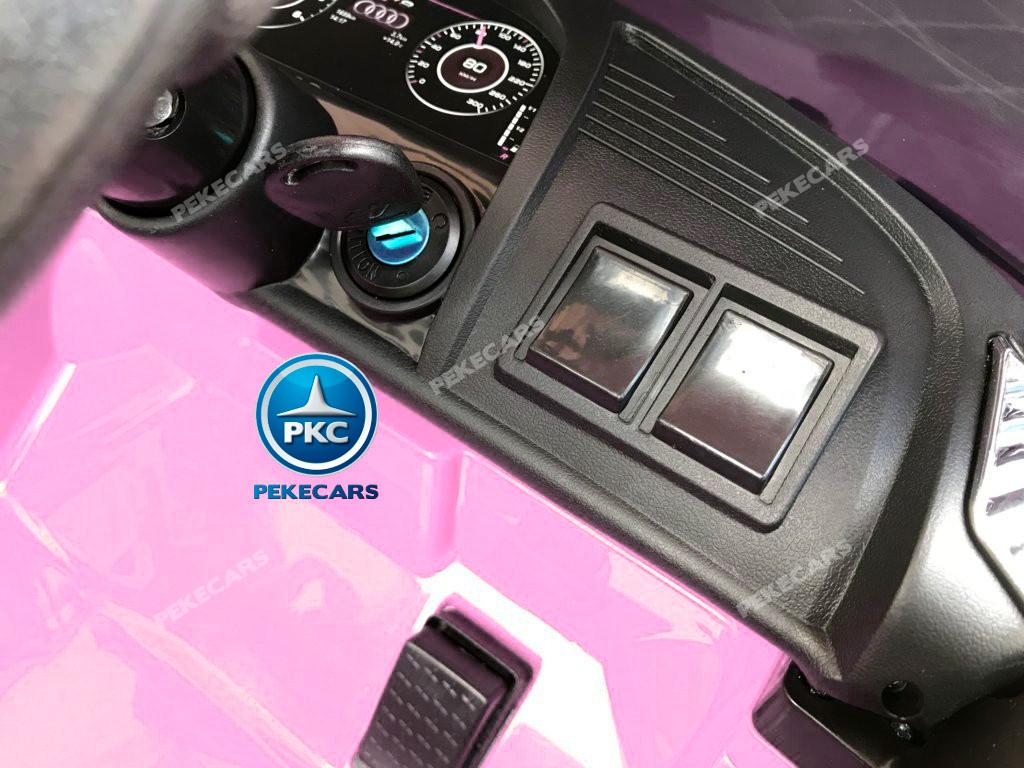 Coche electrico para niños Audi Little R8 Spyder Rosa arranque con llave