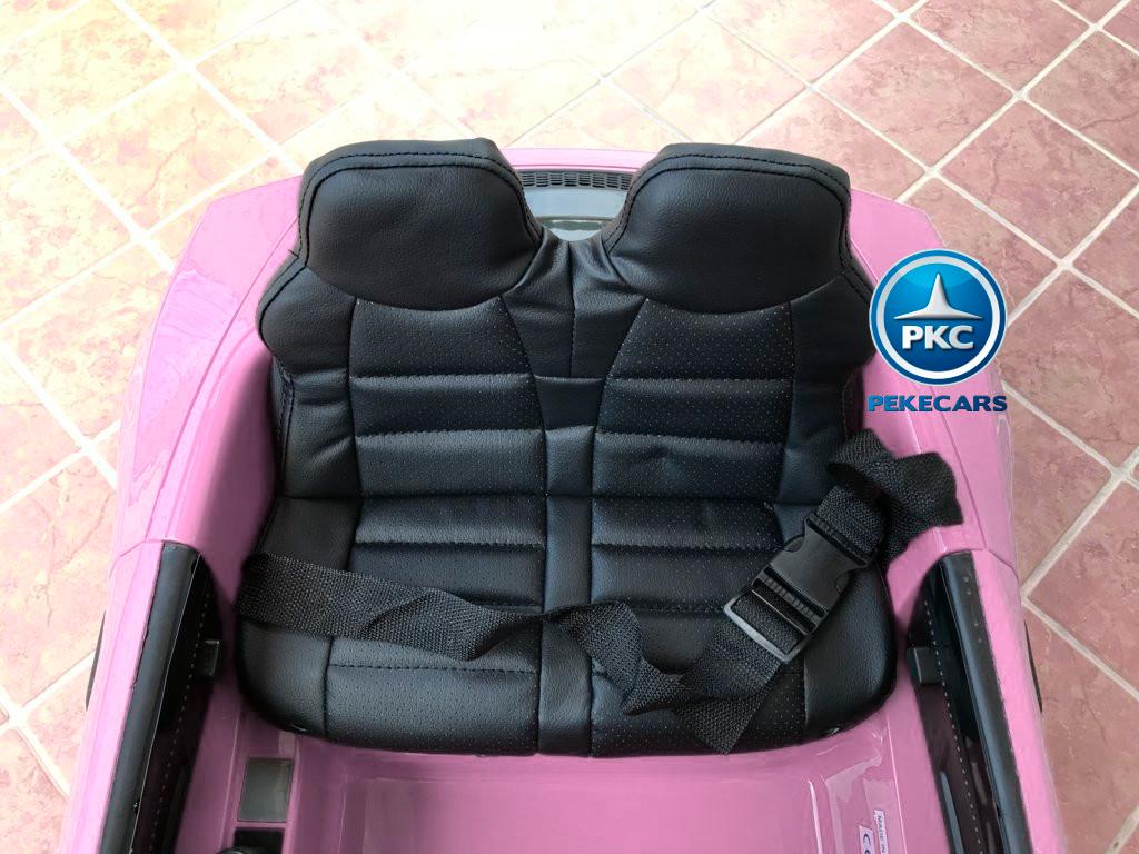 Coche electrico para niños Audi Little R8 Spyder Rosa con asiento acolchado en piel