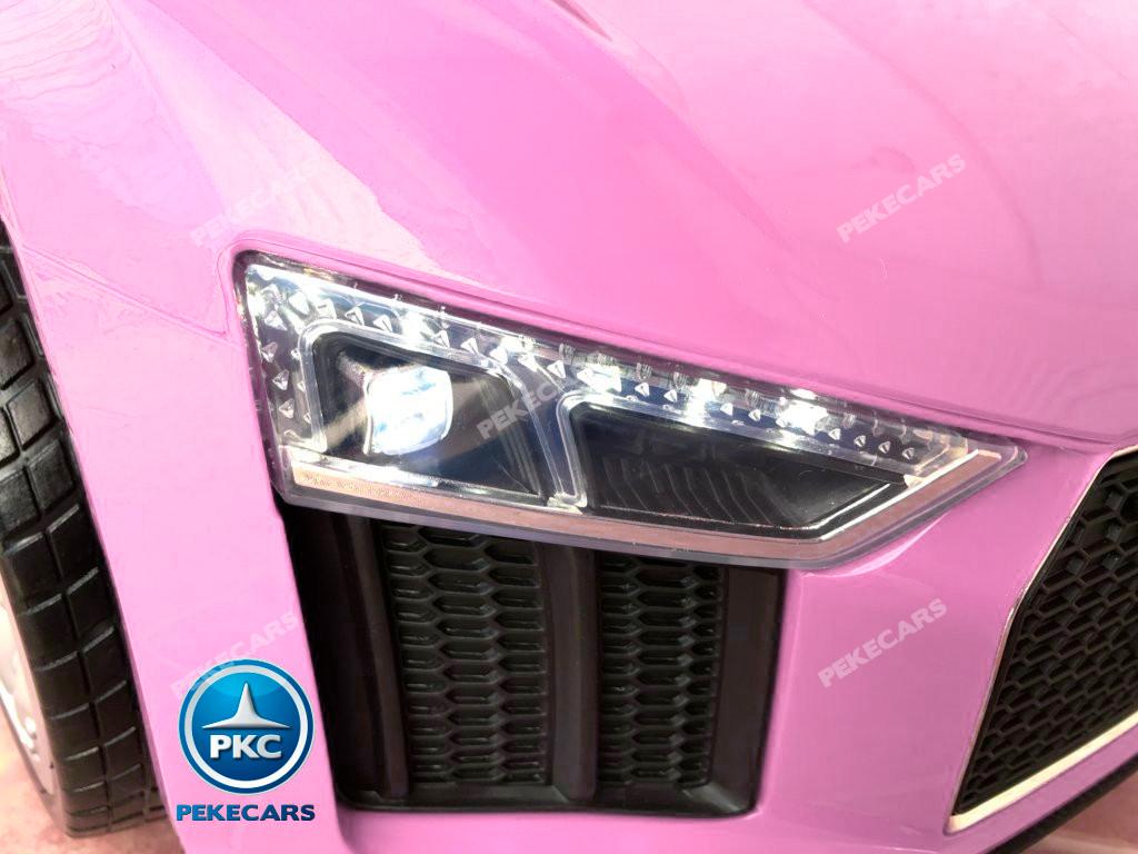Coche electrico para niños Audi Little R8 Spyder Rosa luces led