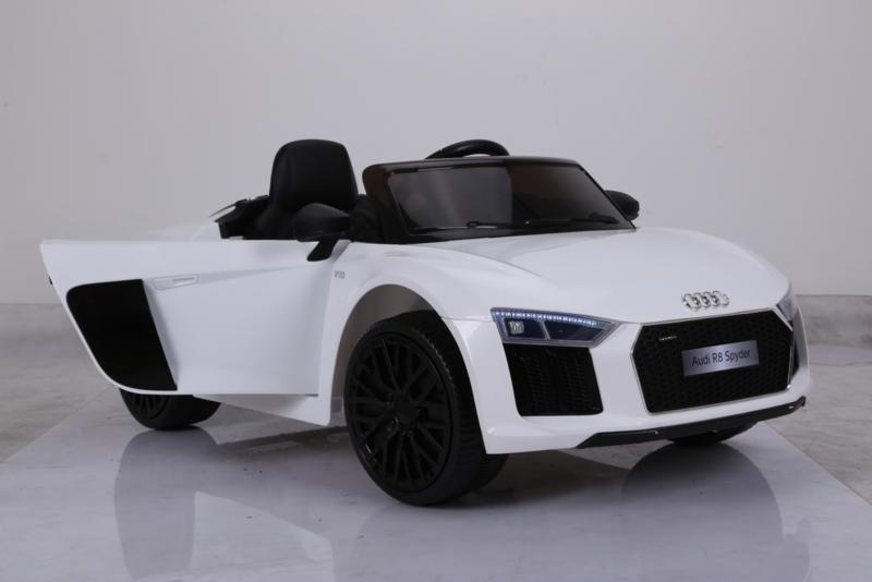 Coche electrico para niños Audi R8 Spyder blanco vista principal