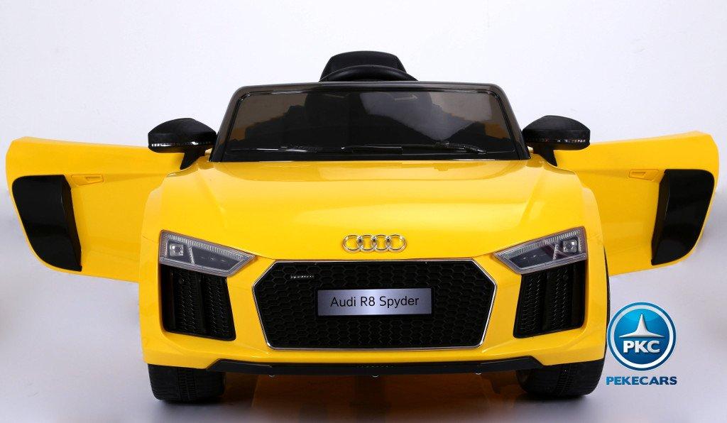 Coche electrico para niños Audi R8 Spyder amarillo vista principal