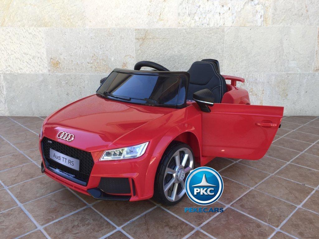 Coche electrico para niños Audi TT Rojo vista principal