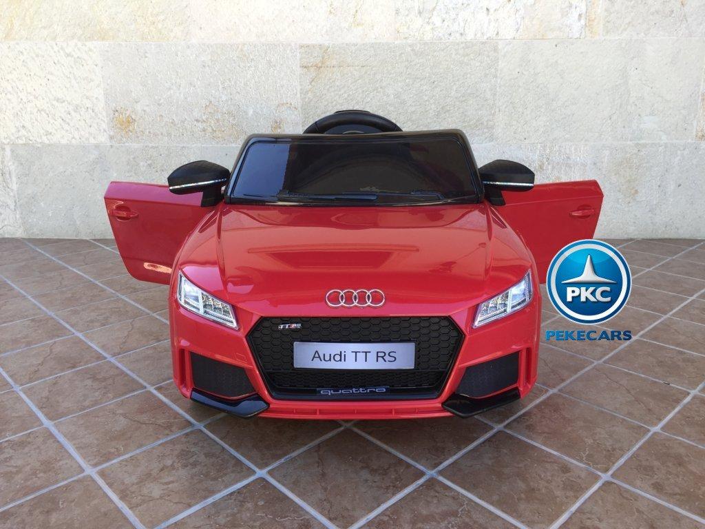 Coche electrico infantil Audi TT Rojo con apertura de puertas