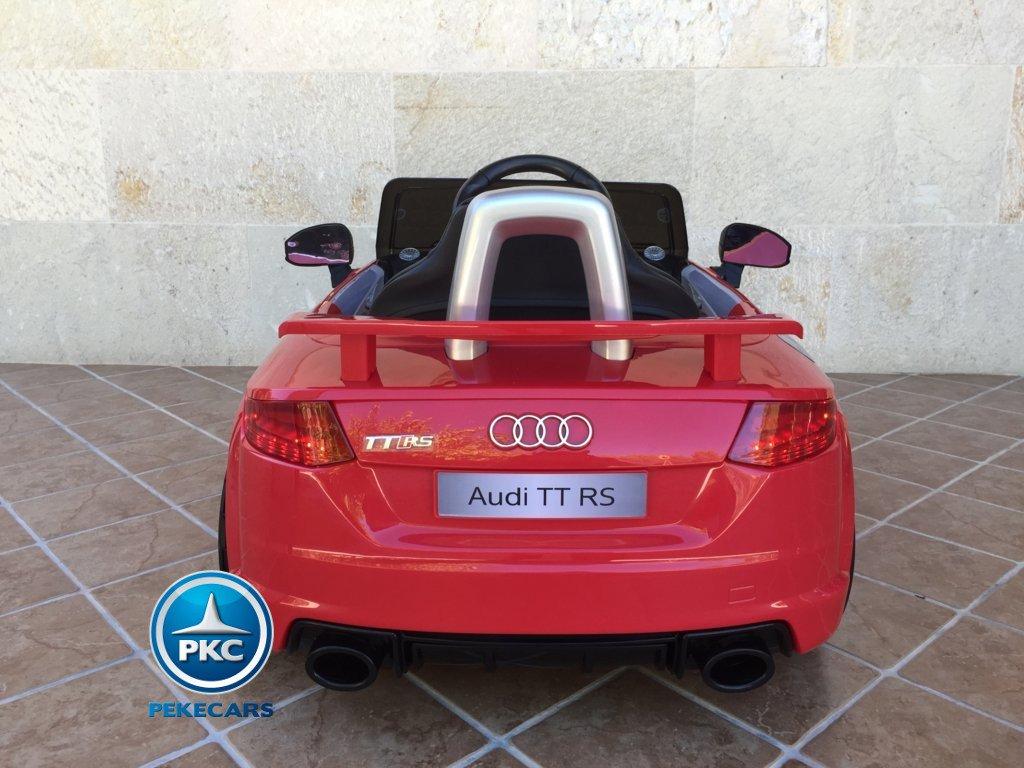 Coche electrico infantil Audi TT Rojo vista trasera