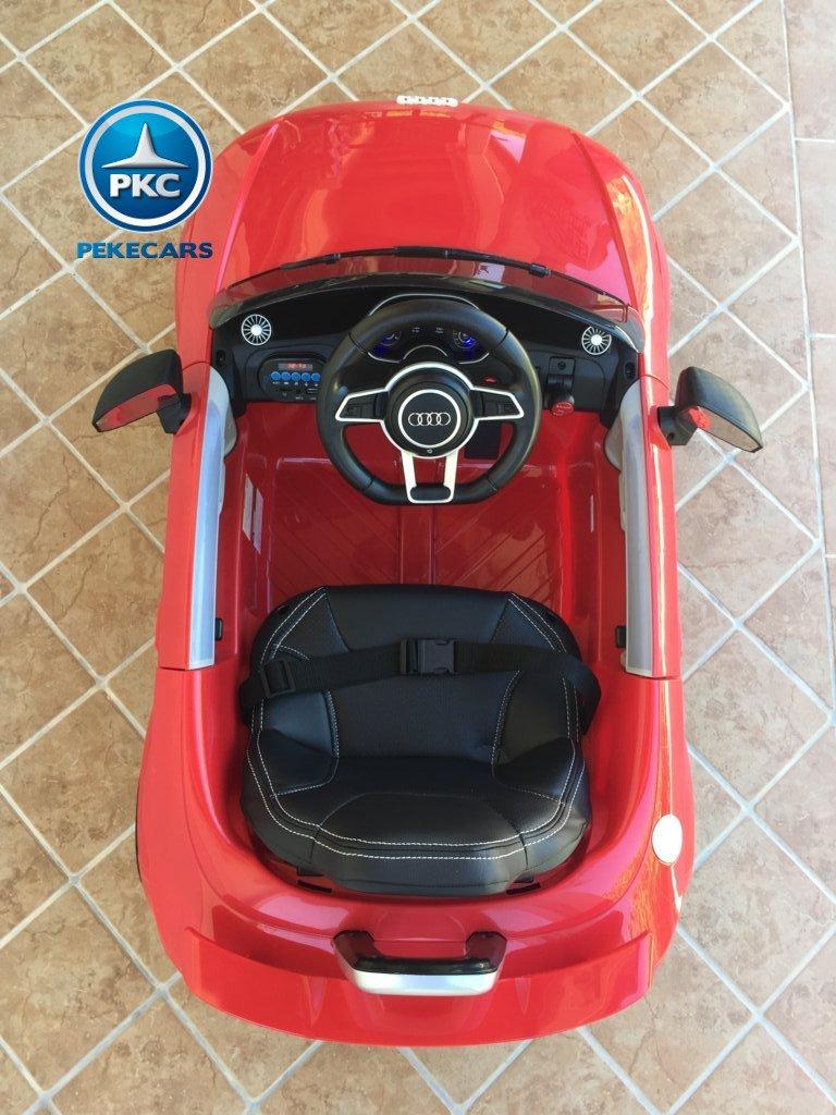 Coche electrico infantil Audi TT Rojo vista Superior