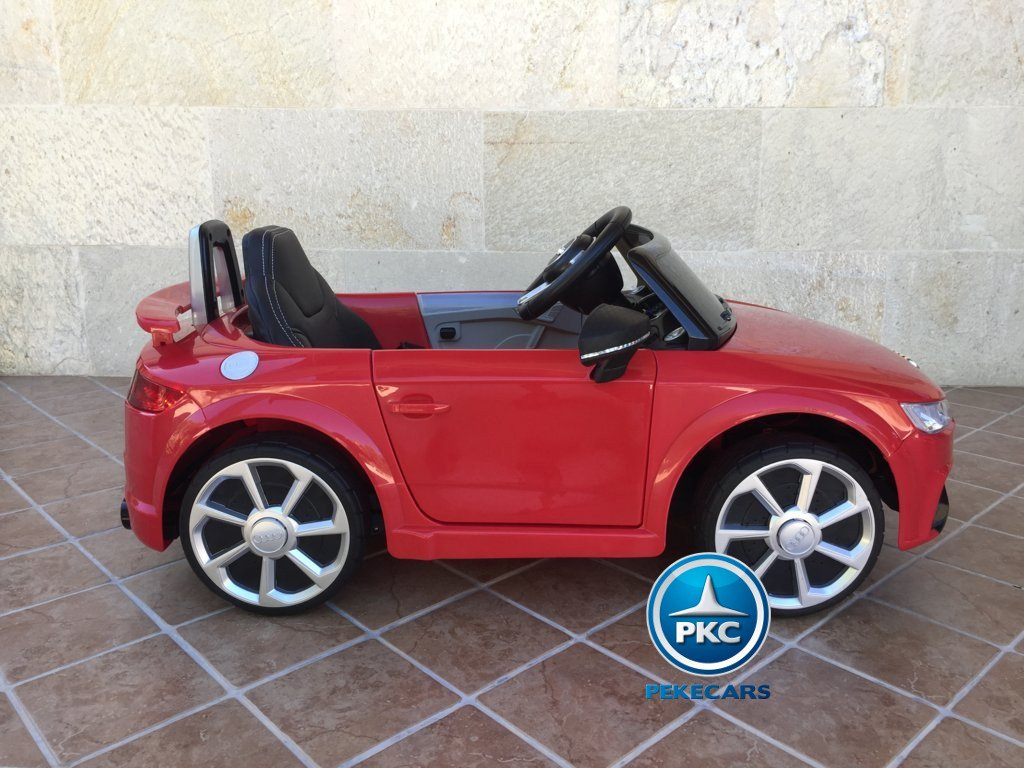 Coche electrico para niños Audi TT Rojo de lado
