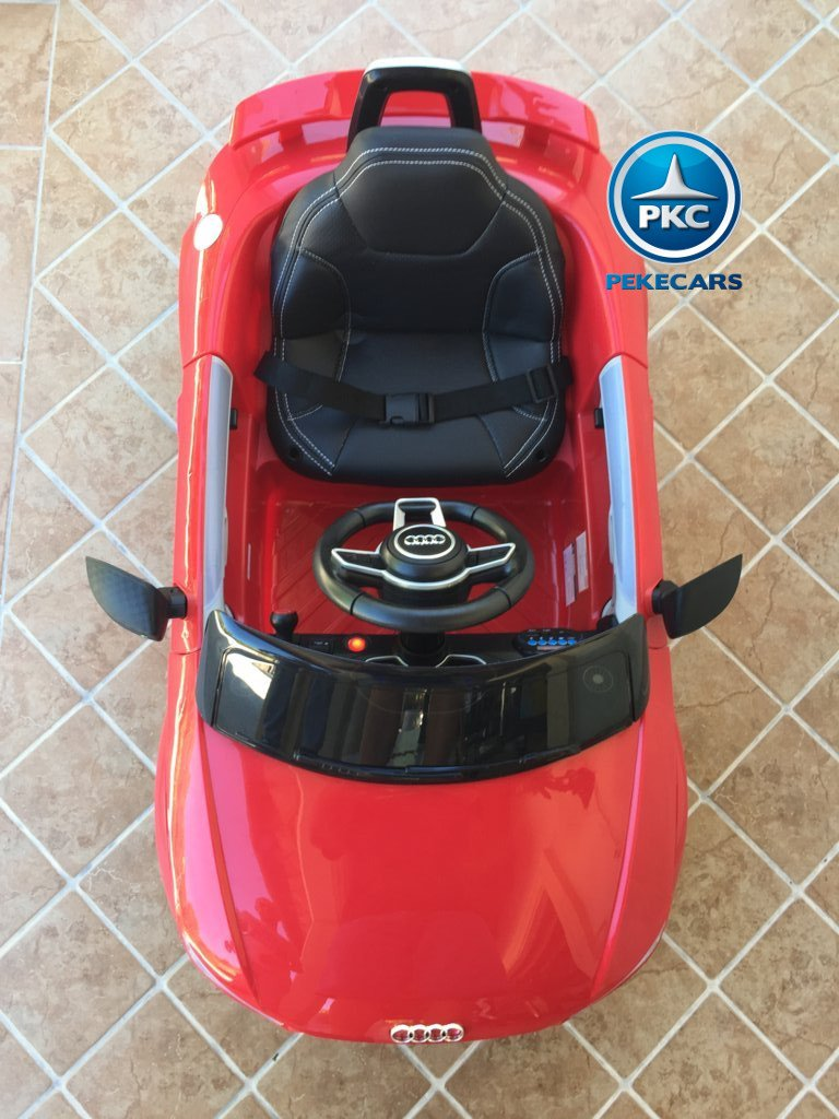 Coche electrico infantil Audi TT Rojo visto desde arriba