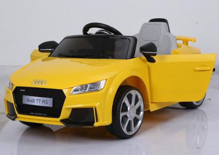 Coche a bateria Audi TT RS Amarillo para niños