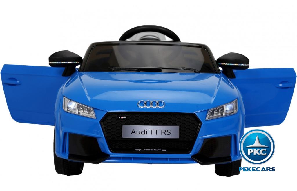 Coche electrico para niños Audi TT Azul vista lateral
