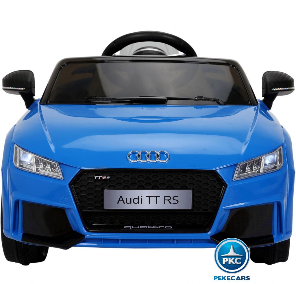 Coche electrico infantil Audi TT Azul vista frontal