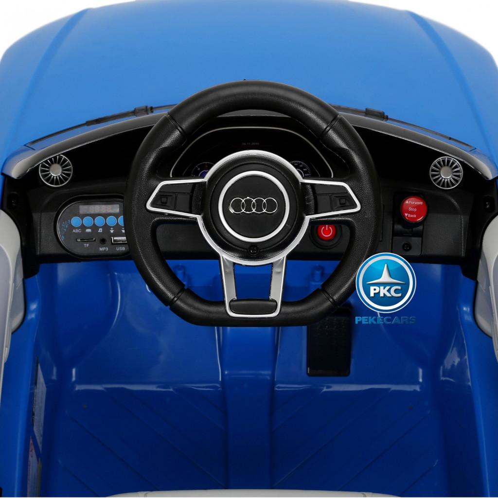 Coche electrico para niños Audi TT Azul luces delanteras