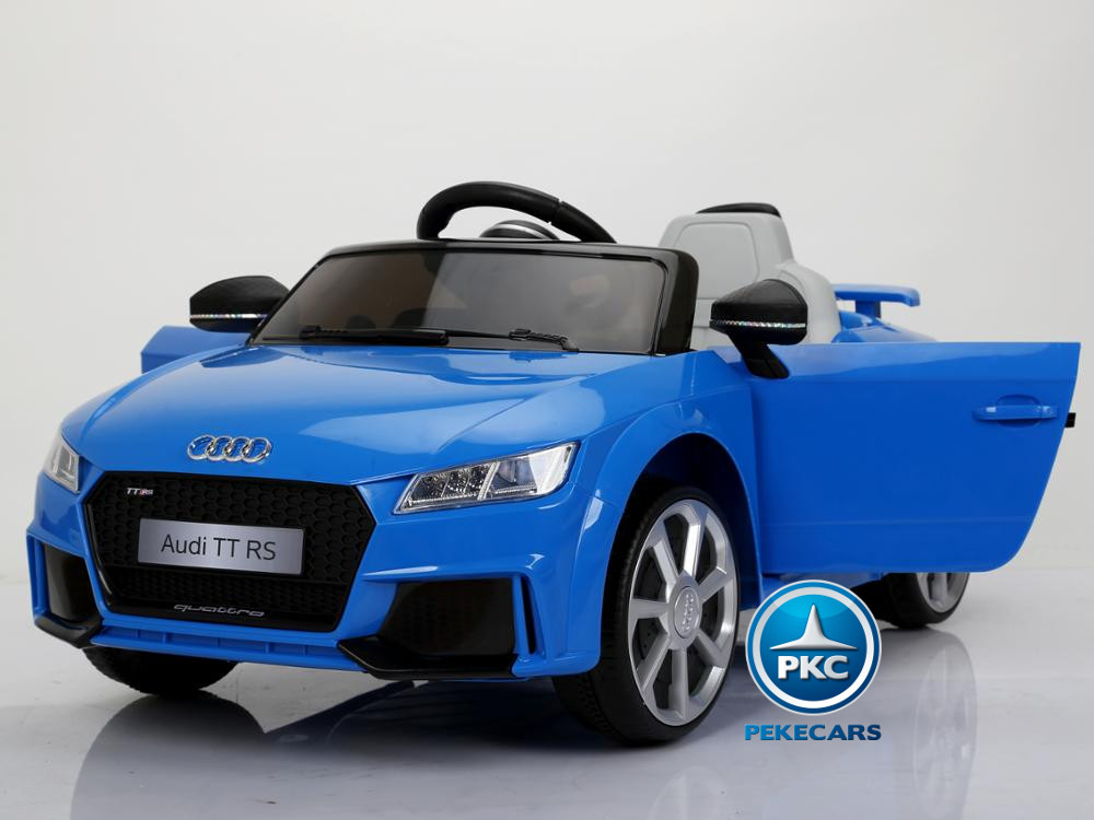 Coche electrico para niños Audi TT Azul vista principal