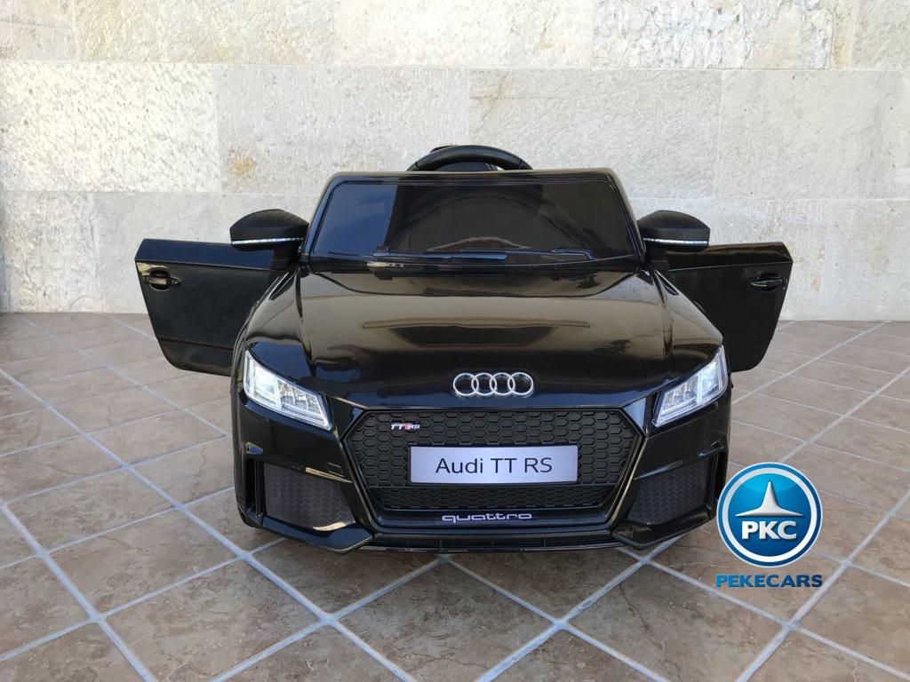 Coche electrico infantil Audi TT Negro con apertura de puertas