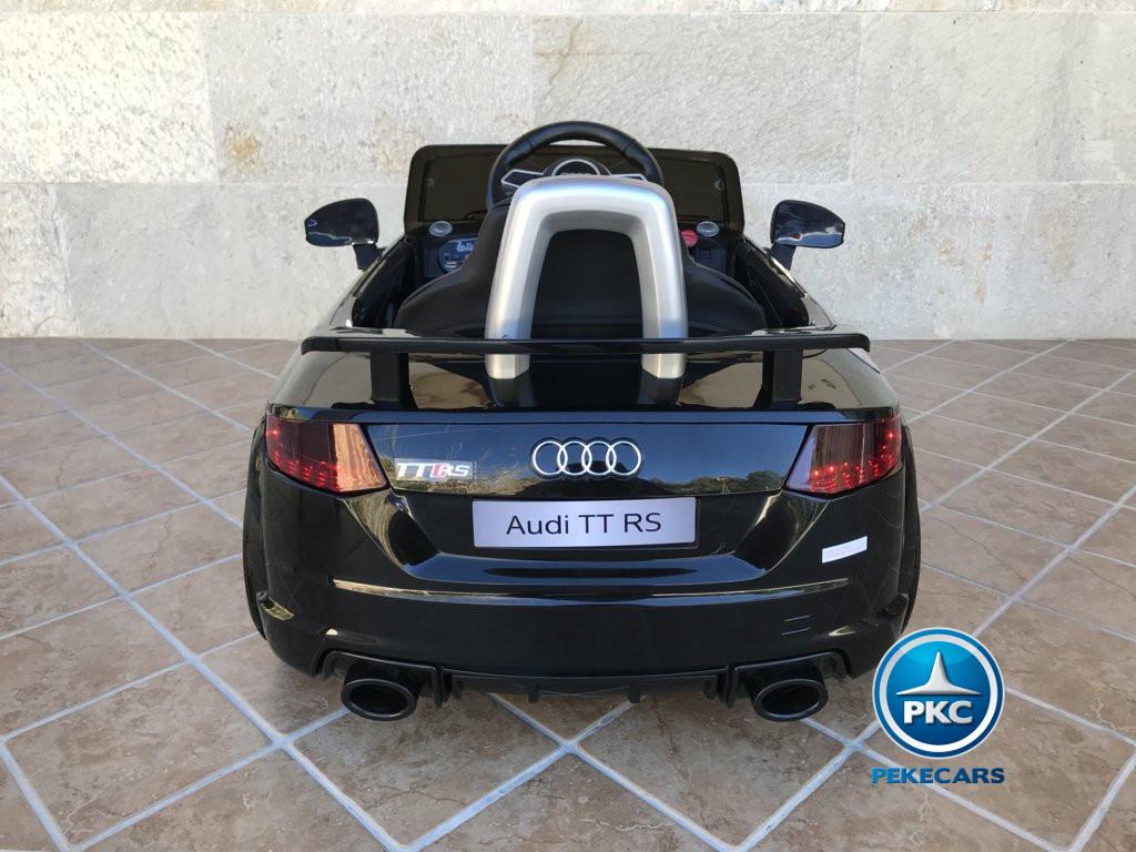 Coche electrico infantil Audi TT Negro vista trasera