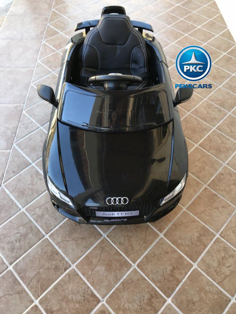 Coche electrico infantil Audi TT Negro vista aerea