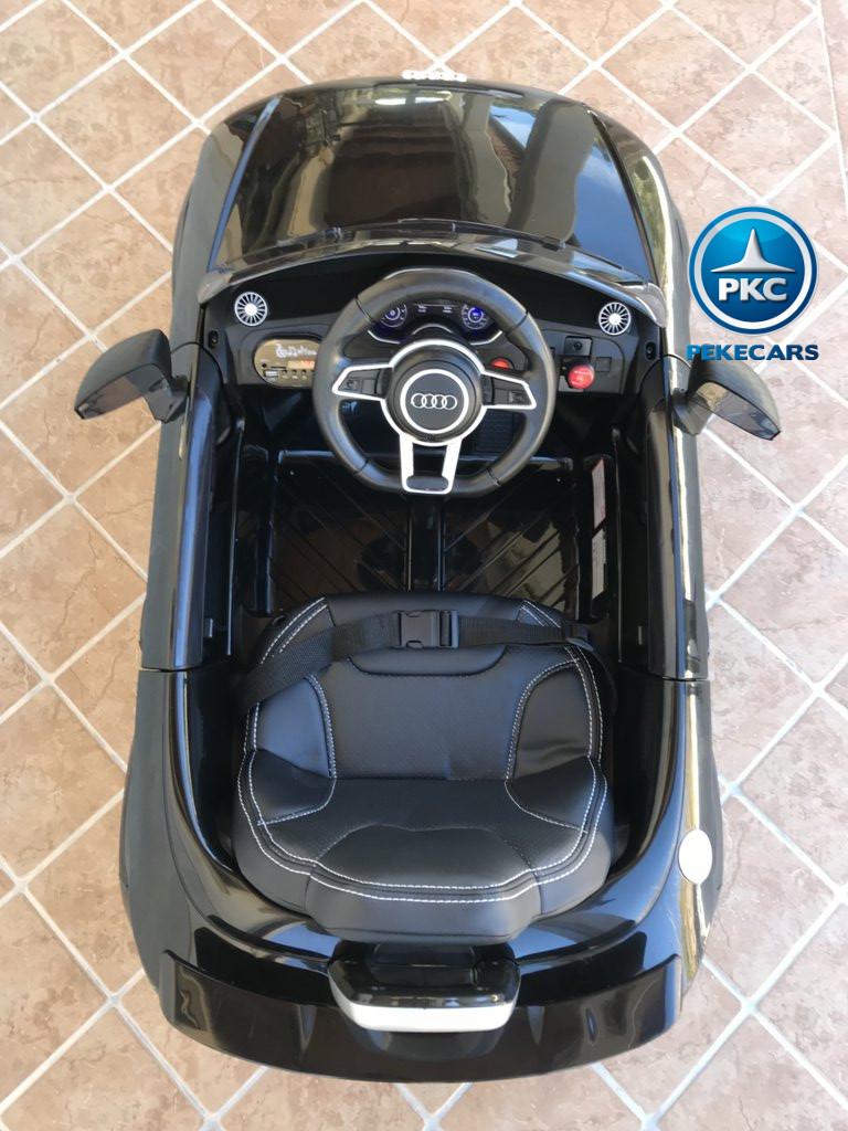 Coche electrico para niños Audi TT Negro visto desde arriba