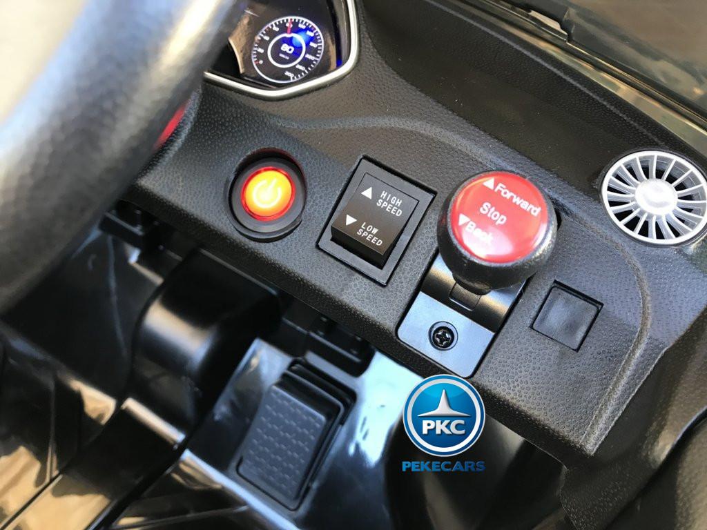 Coche electrico infantil Audi TT Negro con boton de arranque