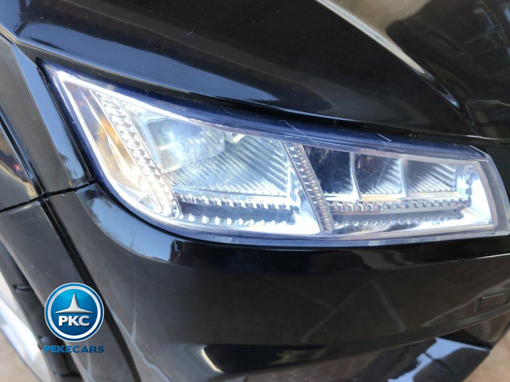 Coche electrico para niños Audi TT Negro luces delanteras