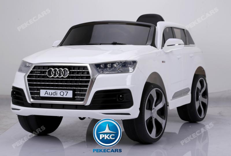 Coche electrico infantil Audi Q7 S-Line Blanco