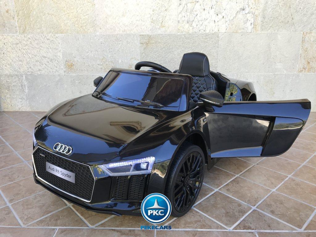 Coche electrico para niños Audi R8 Spyder Negro vista principal