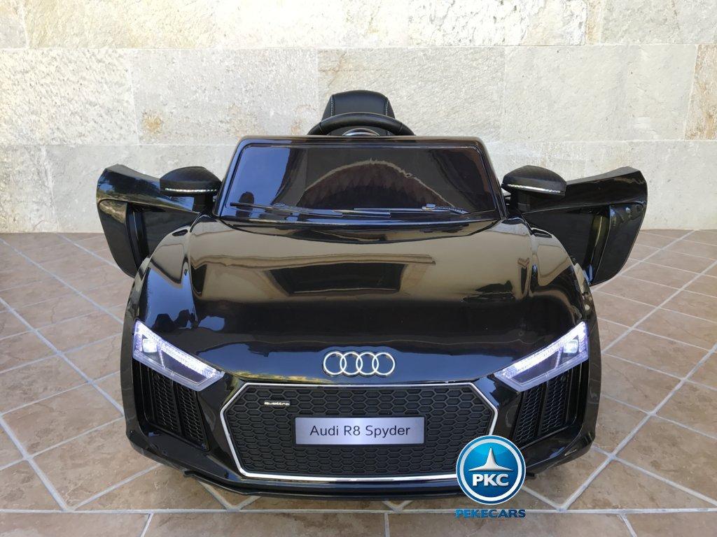Coche electrico para niños Audi R8 Spyder Negro con apertura de puertas