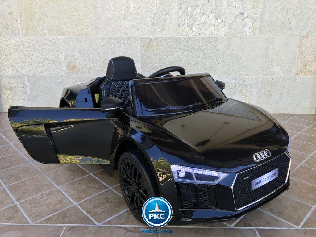 Coche electrico para niños Audi R8 Spyder Negro