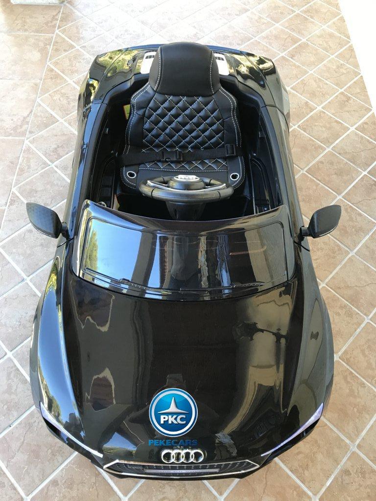 Coche electrico infantil Audi R8 Spyder Negro visto desde arriba